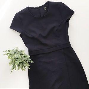Ann Taylor Black Wrap Sheath Knit Career Dress